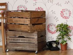 These old apple crates make great under bed storage, ideal as children's toy boxes, for storing laundry, books, or shoes. Stack them for a great look and saving space. £82.50 for set of 3