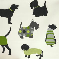 Man's Best Friend Fabric - Kiwi - Prestigious Textiles It's a Dog's Life Fabrics Collection Buy Fabric, Printing On Fabric, Decoration, Art Decor, Mans Best Friend, Best Friends, Modern Colonial, Prestigious Textiles, How To Make Curtains