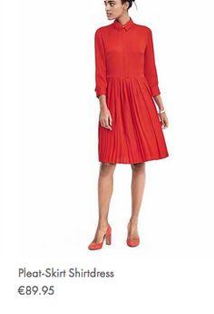 Banana Republic SS17 red skirt