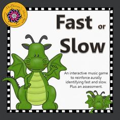 Working on recognizing tempo (fast slow) with your elementary music students?  They will love listening to the examples and then selecting the correct answer in this interactive music game!  A great resource for whole group instruction or centers in your Orff and Kodaly classroom!