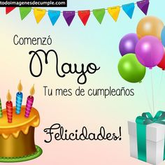 ✅Imágenes de cumpleaños mes de Mayo para descargar gratis Mayo, Home Decor, Birthday Table, Writing Activities, Birthday Images, Free Downloads, Social Networks, Ornaments, Room Decor