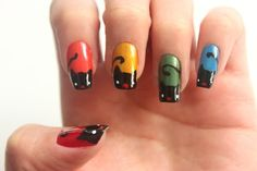 Manicure Monday: Black Cat Nails with Syl and Sam Nail Bat, Cat Nail Art, Cat Nails, Cat Nail Designs, Nail Designs Easy Diy, Nails Design, Finger, Uñas Fashion, For Elise