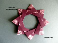 https://flic.kr/p/MZtAn1 | Ostara Star | Design by Maria Sinayskaya Das Diagramm ist nicht öffentlich !!!!! Gefaltet habe ich mit 5*5 cm Origamipapier von Folia :)