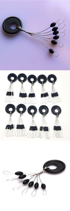 10Group 60pcs Space Bean Resistance Not To Hurt The Line tackle Vertical Rod Clip/o-shaped Ring Fishing Accessories ZB156