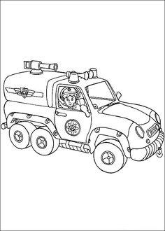 Desenhos para colorir para crianças. Desenhos para imprimir e colorir O Bombeiro Sam 1