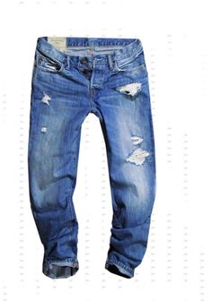mens  jeans boyfriend Abercrombie&Fitch with originals holes 30/30 #AbercrombieFitch #ClassicStraightLeg
