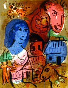 Marc Chagall - Antilopa Passengers, 1969