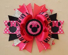 Minnie Mouse Bottlecap Hair Bow by buddhabelly10 on Etsy, $6.50