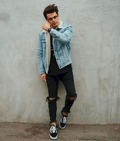 23 best winter college outfits for guys streetwear, grunge, retro, photo and video Outfits Casual, Winter Fashion Outfits, Mode Outfits, Outfits For Teens, Winter Outfits, Men Casual, Guy Outfits, Fashion Clothes, Spring Outfits