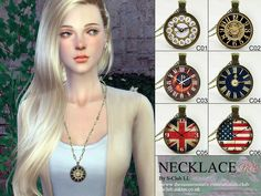 Necklace N02 by S-Club LL at TSR via Sims 4 Updates