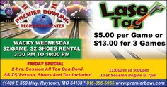 Premier Bowling has Friday specials for the entire family to have fun!!  // For more family resources visit www.ifamilykc.com! :)