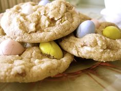 cadbury mini egg cookies.  i'm in trouble.