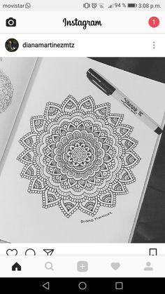 Mandala Doodle, Mandala Art Lesson, Mandala Artwork, Mandala Painting, Doodle Art Drawing, Mandala Drawing, Pencil Art Drawings, Art Drawings Sketches, Dibujos Zentangle Art
