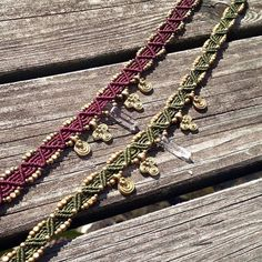 Macrame choker with Clear Quartz and brass.