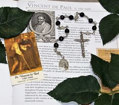 Unbreakable Catholic Chaplet of St. Vincent de Paul - Patron Saint of Charities, Hospital Workers and Volunteers by foodforthesoul on Etsy
