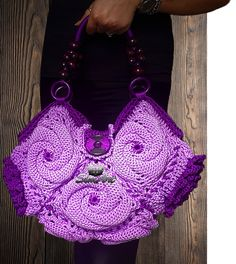 Fluffy swirl crochet bag
