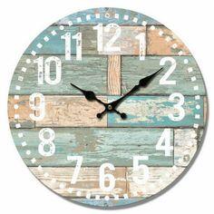 Diy Wall Clocks 649433208755132228 - Source by lolabrooksis Farmhouse Clocks, Diy Clock, Diy Wall Clocks, Clock Tattoo Design, Kitchen Wall Clocks, Palette, Tabletop Clocks, Sea Theme, Diy Wall Decor