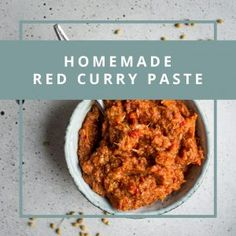 A simple recipe for a quick, vegan red curry paste. Curry paste is a great base to have on hand for whipping up a delicious dinner in a pinch! There are a few things which you can easily buy at the store, that I prefer to make at home. Hummus is one, some Coconut Vegetable Curry, Coconut Curry, Thai Coconut, Vegan Recipes, Vegan Meals, Curry Recipes, Vegan Food, Vegetarian Dinners, Healthy Food