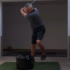 This drill will probably change the way that you think about the swing forever, teaching you how the Tour pros move to make the golf swing look so effortless as they generate astonishing club head speed and consistently strike the ball beautifully. Golf Etiquette, Golf Simulators, Golf Videos, Golf Instruction, Golf Tips For Beginners, Golf Exercises, Perfect Golf, Golf Training, Golf Lessons