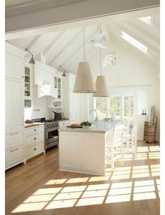 Kitchen Design - Home and Garden Design Ideas....nice neutral colors....you can change the look of the kitchen by using accent colors and accessories.....Bebe,'!!!