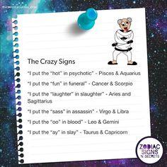 Psychotic okay lmao Zodiac Sign Quiz, Zodiac Signs Chart, Zodiac Signs Sagittarius, Zodiac Sign Traits, Zodiac Star Signs, Horoscope Signs, Zodiac Horoscope, Horoscopes, Horoscope Funny