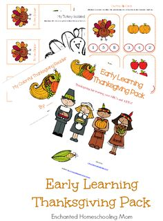 Early Learning Thanksgiving Pack - Enchanted Homeschooling Mom