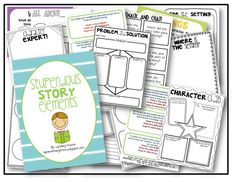 FREE 34 page story elements packet!