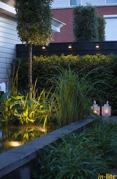 Sprankelend water | Vijver | Tuin | Onderwaterspot SUB | Inspiratie | Wandlamp WEDGE DARK | Outdoor lighting