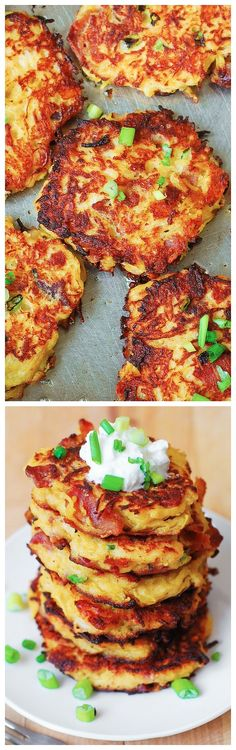 Bacon, Spaghetti Squash, and Parmesan Fritters