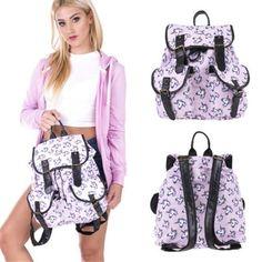 Magical Unicorn Backpack Girl School Hiking Travel Backpacks Tote Shoulder Bag S