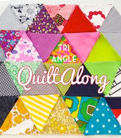 Fabric triangles My Poppet quiltalong
