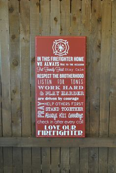 Hey, I found this really awesome Etsy listing at https://www.etsy.com/listing/207050253/firefighter-house-rules-gift-for