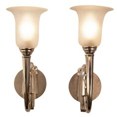 French Art Deco Wall Sconces | From a unique collection of antique and modern wall lights and sconces at https://www.1stdibs.com/furniture/lighting/sconces-wall-lights/