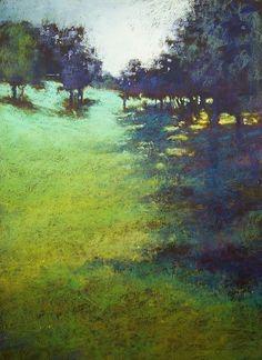 "Jane Christie ""Meadow Dressed in Jewels"" x Pastel Pastel Landscape, Watercolor Landscape, Abstract Landscape, Seascape Paintings, Landscape Paintings, Painting Prints, Pastel Paintings, Pastel Drawing, Pastel Art"
