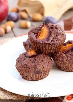 Kakaowe babeczki z węgierkami | Zdrowe Przepisy Pauliny Styś