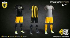 The new Nike AEK FC jerseys boast stylish designs. Nike, Home And Away, 18th, Soccer, Stylish, How To Wear, Memories, Football Shirts, Hs Sports