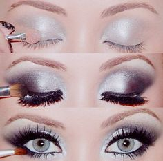Frosted Silver Look- great for light eyes