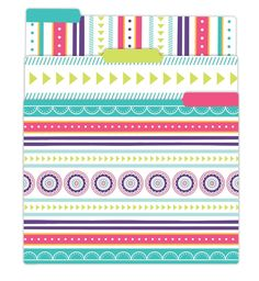File Folder Set, Medallions – bloom daily planners