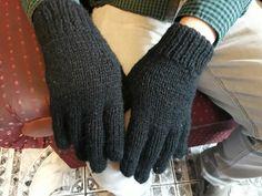 guantes para mi gordito en dos agujas