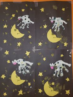 The cow jumped over the moon preschool art