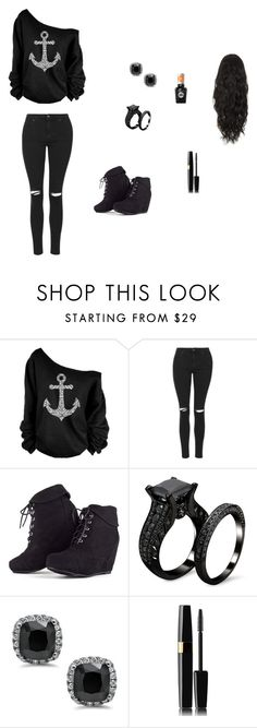 """""""Do I look pretty """" by meyou-ii ❤ liked on Polyvore featuring Topshop and Sally Hansen"""