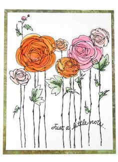 Stampendous » Ranunculus Field by Melinda Gleissner - great stamp and card to make for Center of Healing
