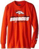NFL Denver Broncos Men's Primary Receiver IV Long Sleeve Tee, Classic Orange, X-Large
