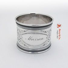 Coin Silver Napkin R