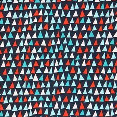 navy blue maritime sail fabric Michael Miller
