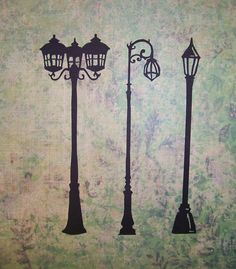 Intricate Antique Street Lamp Silhouette by ALittleLemonadeStand, $2.60