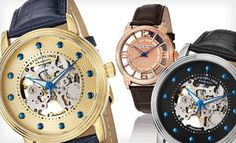 Groupon - Men's Stuhrling Skeleton Watches (Up to 84% Off). 21 Options Available. Free Shipping and Free Returns. in Online Deal. Groupon deal price: $48.00