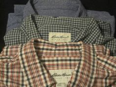 3 EDDIE BOWER BUTTON DOWN LONG SLEEVE MENS DRESS SHIRTS SIZE XL