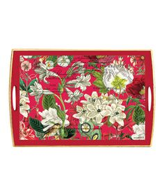 Loving this Winter Floral Handled Decoupage Tray on #zulily! #zulilyfinds