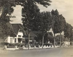 Villawijk naar Nederlands model in Bandung, Java, Indonesië (1933)